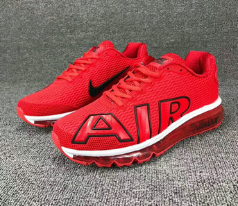Cheap Wholesale Nike SportWear Mens Air Max Flair University Red White Black