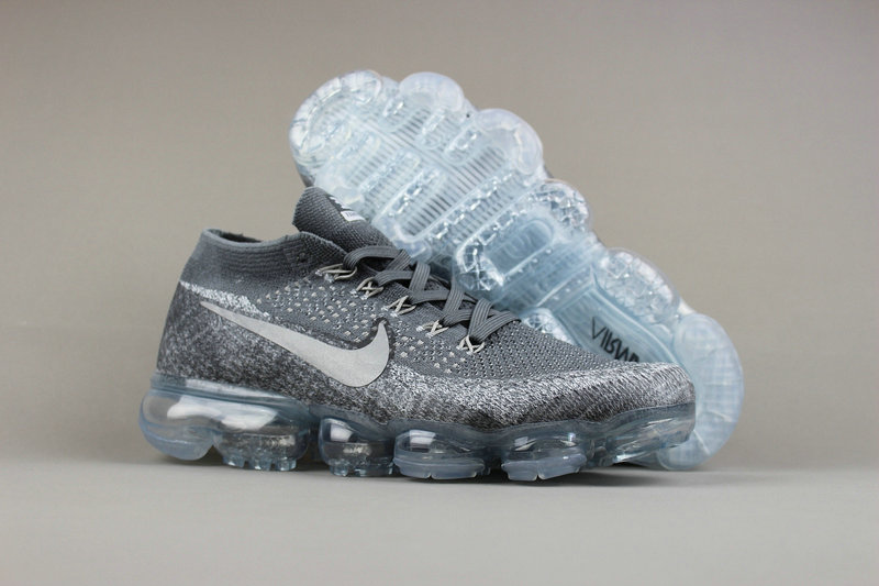 Cheap Wholesale Nike Sporting Womens Air VaporMax Flyknit Grey White