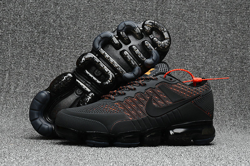 Cheap Wholesale Nike Sportwear Air VaporMax 2018 Womens Black Orange