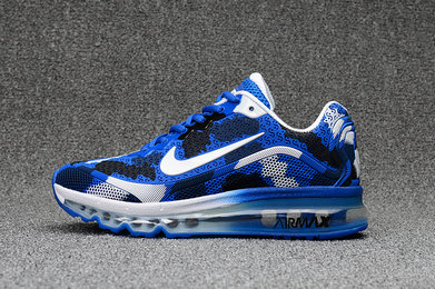 Cheap Wholesale Nike WMNS Air Max 2017 CamouFlage Blue White Black