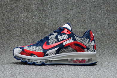 Cheap Wholesale Nike WMNS Air Max 2017 CamouFlage Red Blue Grey