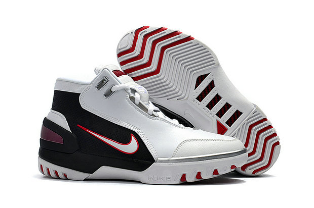 Cheap Wholesale Nike Zoom Generation Lebron James 1 White Black Red