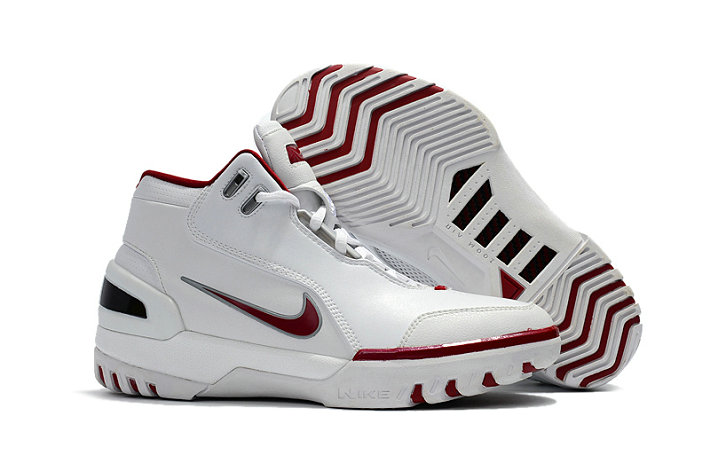 Cheap Wholesale Nike Zoom Generation Lebron James 1 White Red