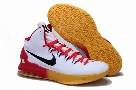 Cheap Wholesale Nike Zoom KD 5 V White Red Black Yellow