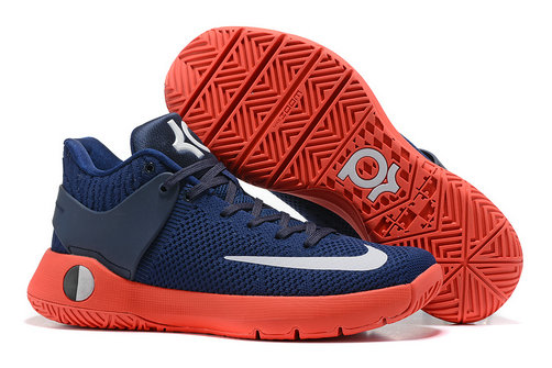 Cheap Wholesale Nike Zoom KD Trey 5 Navy Blue Orange White