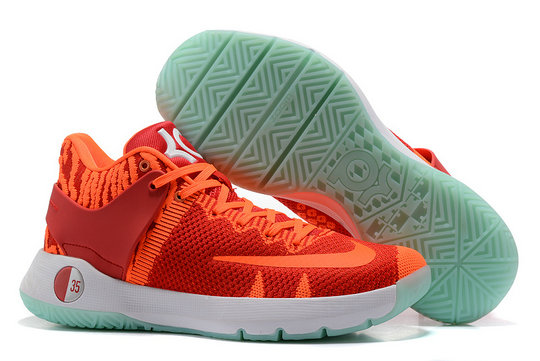Cheap Wholesale Nike Zoom KD Trey 5 Orange RED Grass Green White