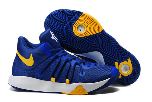 Cheap Wholesale Nike Zoom KD Trey 6 Yellow Blue White