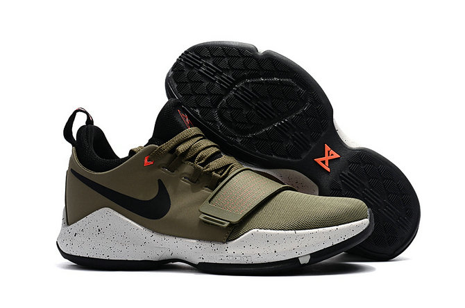 Cheap Wholesale Nike Zoom PG 1 Kids Black Army Green