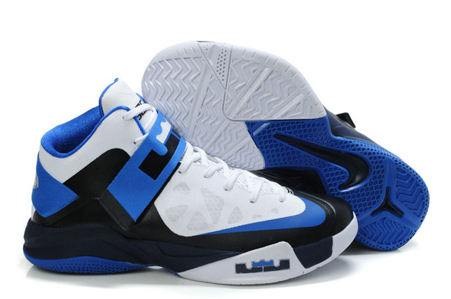 Cheap Wholesale Nike Zoom Soldier VI Blue Black White