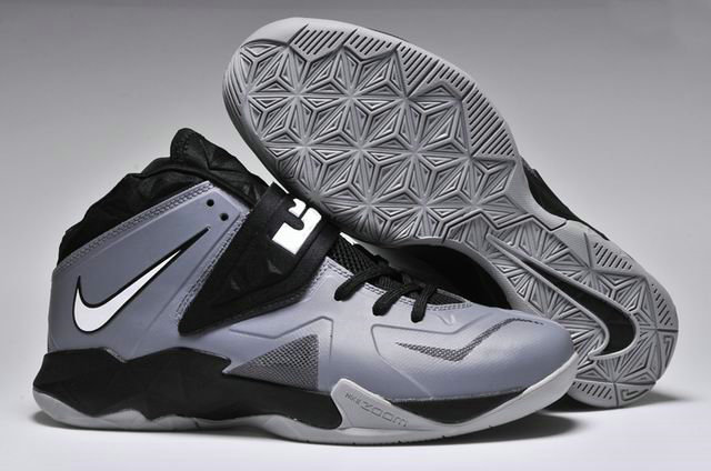 Cheap Wholesale Nike Zoom Soldier VII Grey White Black