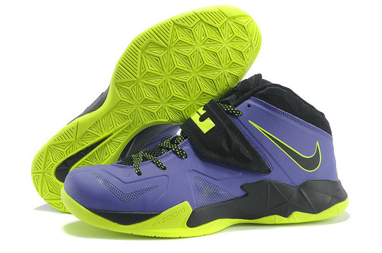 Cheap Wholesale Nike Zoom Soldier VII Purple Green Black