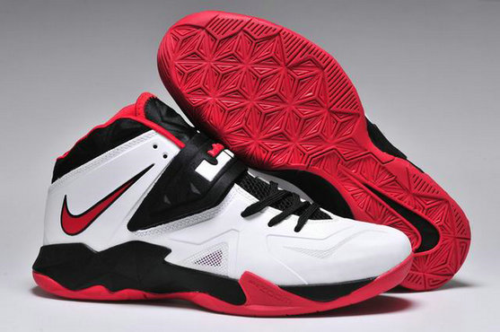Cheap Wholesale Nike Zoom Soldier VII White Black Red
