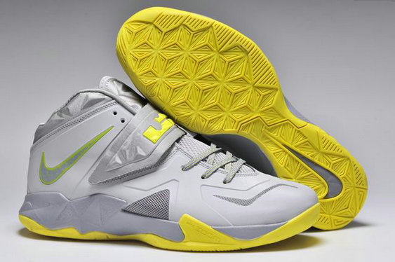 Cheap Wholesale Nike Zoom Soldier VII Yellow Grey