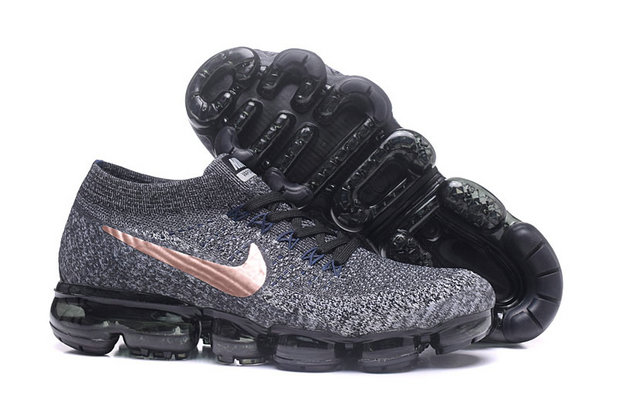 Cheap Wholesale NikeLab Air VaporMax Flyknit Running Mens Gold Grey Black