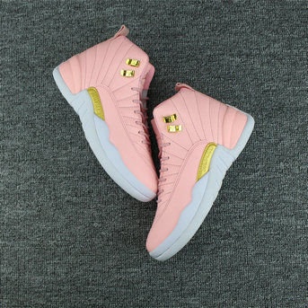 Cheap Wholesale NikeLab WMNS Air Jordan 12 Retro Pink Gold White