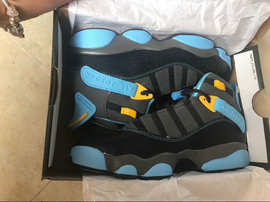 Cheap Wholesale NikeLab WMSN Air Jordan 6 Rings Retro Blue Black Yellow