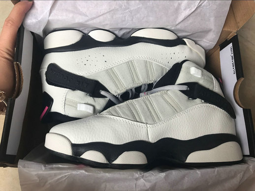 Cheap Wholesale NikeLab WMSN Air Jordan 6 Rings Retro White Black Pink
