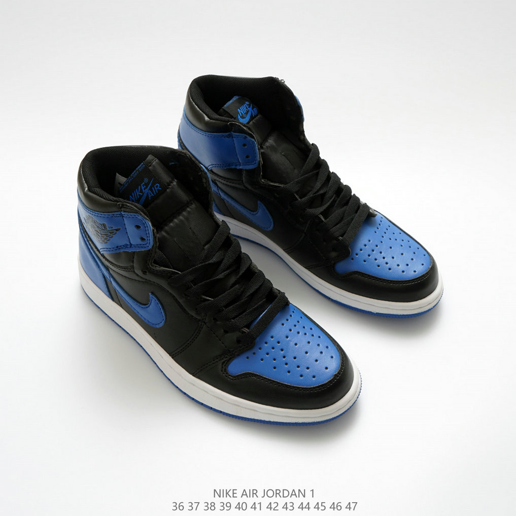 online retailer 28434 0bbde Wholesale Cheap Nikes Air Jordan 1 High OG Fire Royal Blue White Black Blanc