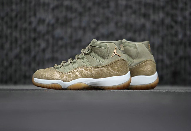 Wholesale Cheap Nikes Air Jordan 11 Olive Lux