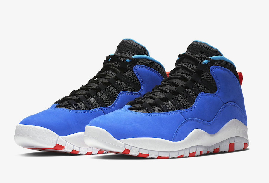 Wholesale Cheap Nikes Air Jordans 10 Tinker Huarache Light Racer Blue Black-Team Orange-White 310805-408