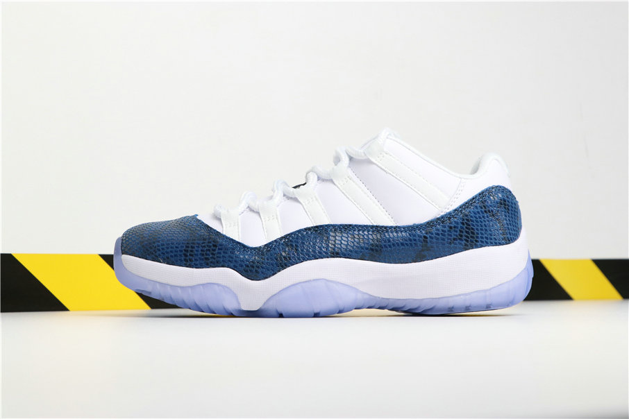 Wholesale Cheap Nikes Air Jordans 11 Navy Blue Snakeskin CD6846-102