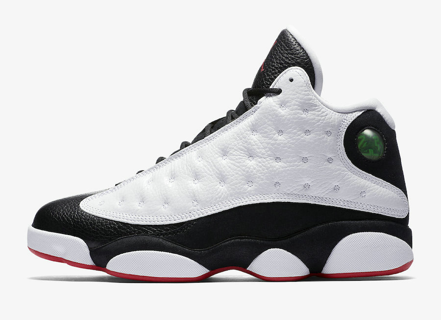 Wholesale Cheap Nikes Air Jordans 13 He Got Game White Black-True Red 414571-104