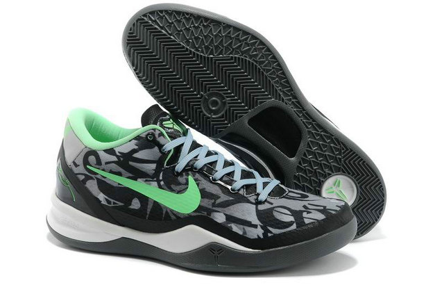 Cheap Wholesale Nikes Kobe 8 Green White Black Grey