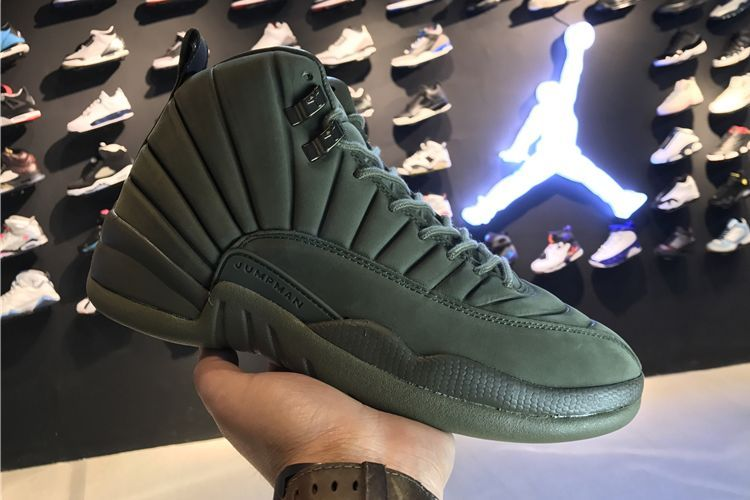 Cheap Wholesale PSNY x Air Jordan 12 Olive For Sale 2017
