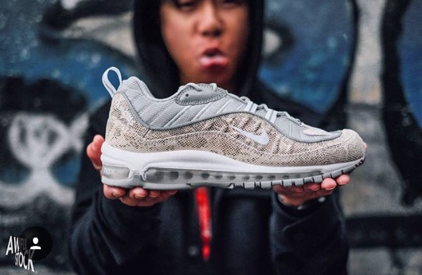 Cheap Wholesale Supreme x NikeLab Air Max 98 Grey Cream