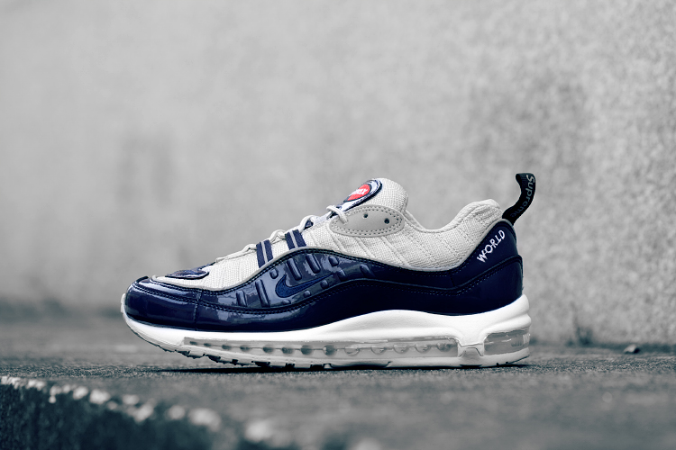 Cheap Wholesale Supreme x NikeLab Air Max 98 Navy Blue White