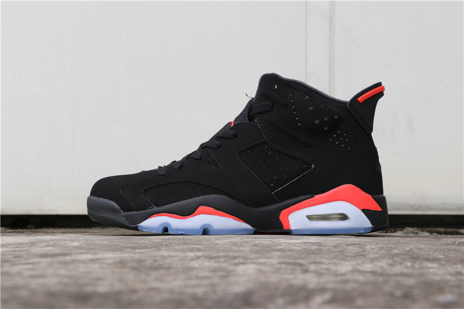 Wholesale Cheap Women Nikes Air Jordans 6 Black Infrared 384664-060