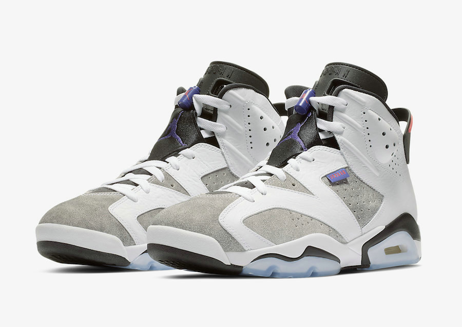 Wholesale Cheap Women Nikes Air Jordans 6 LTR White Black-Infrared 23-Dark Concord CI3125-100