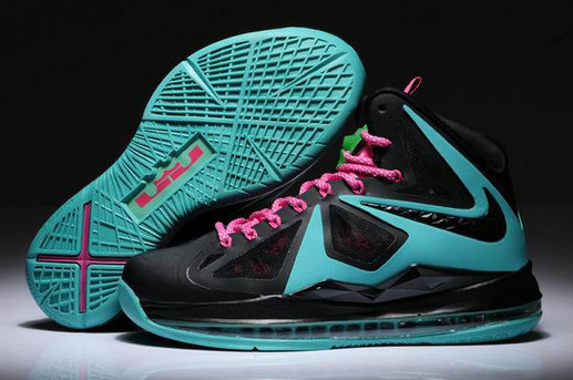 Cheap Wholesale Womens Lebron 10 Green Black Pink