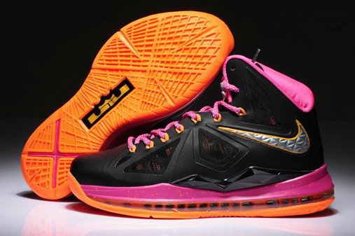 Cheap Wholesale Womens Lebron 10 Pink Orange Black