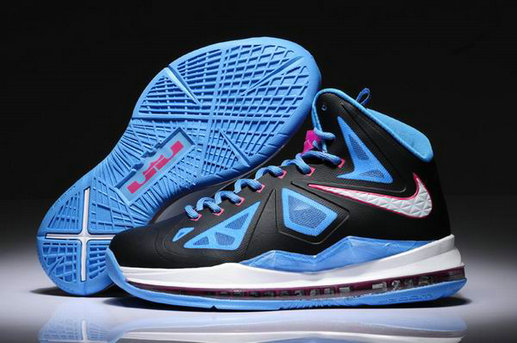 Cheap Wholesale Womens Lebron 10 White Blue Black Pink