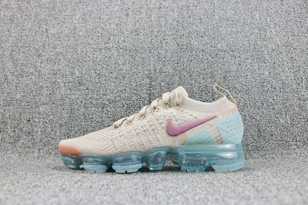 Wholesale Cheap Womens Nike Air VaporMaxs Flyknit 2 Particle Beige Somkey Mauve