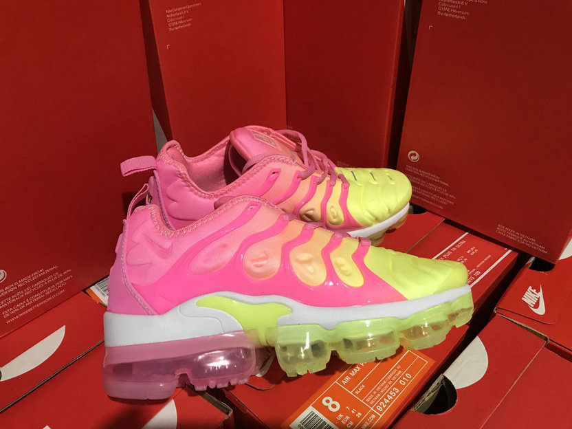 best authentic 9ceb6 86722 Cheap Womens NikeLab Air VaporMax Plus Pink Yellow White ...