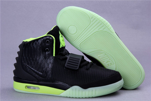 Cheap Wholesales Nike Air Yeezy 2 Black Green