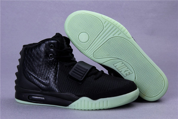 Cheap Wholesales Nike Air Yeezy 2 Black Light Green