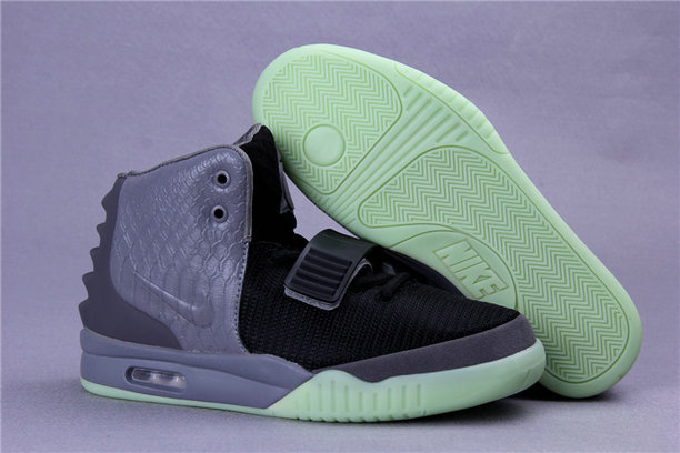 Cheap Wholesales Nike Air Yeezy 2 Grey Black Light Green