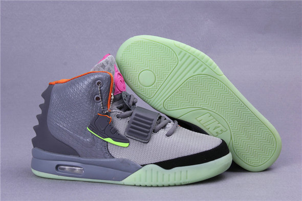 Cheap Wholesales Nike Air Yeezy 2 Grey Green Orange