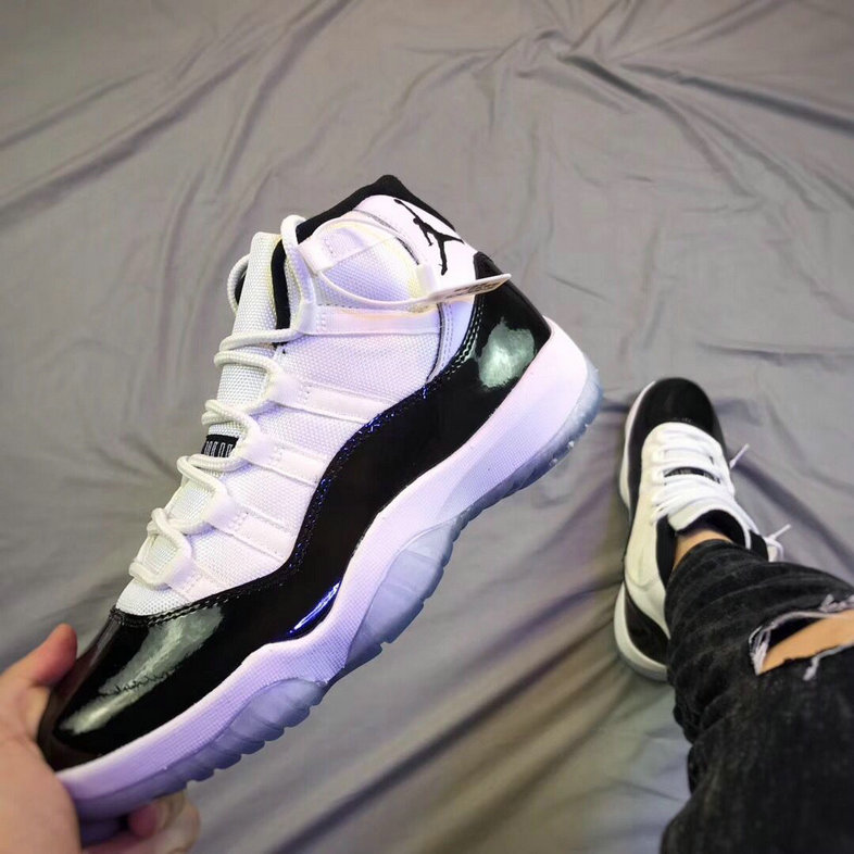 Wholesale Classic Air Jordan 11 Concord White Black