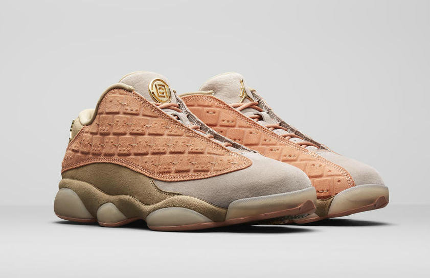 Wholesale Cheap Clot x WMNS Nike Air Jordans 13 Low Sepia Stone Canteen-Terra Blush AT3102-200