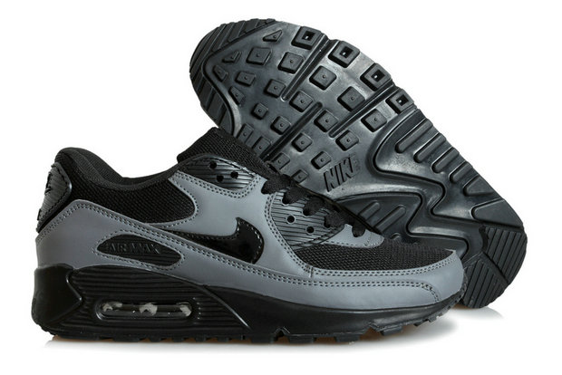 Discount Nike Air Max 90s Black Dark Grey