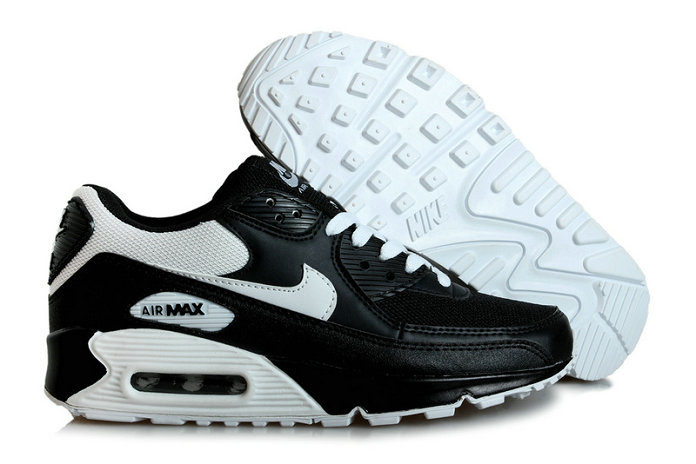 Discount Nike Air Max 90s Black White