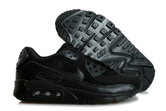 Discount Nike Air Max 90s Black Whole