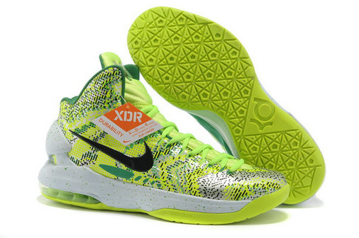 Discount Nike KD 5 Christmas Green Black White