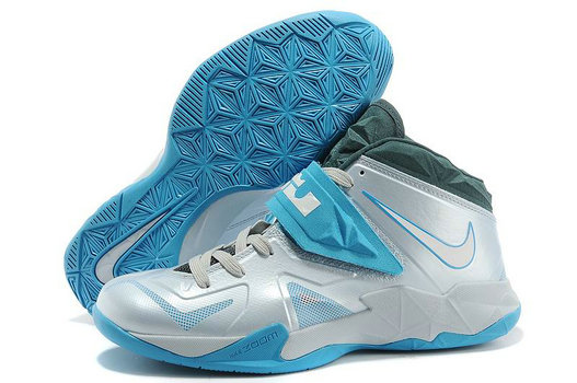 Grey Blue Nike Zoom Soldier 7