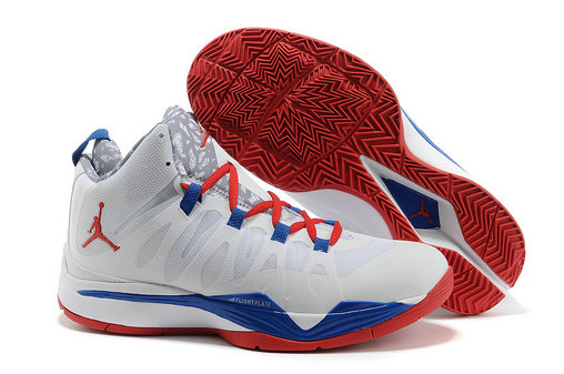 Jordan Super Fly 2 White Blue Red
