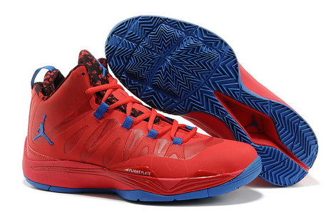 Jordan Super Fly II Red Royal Blue